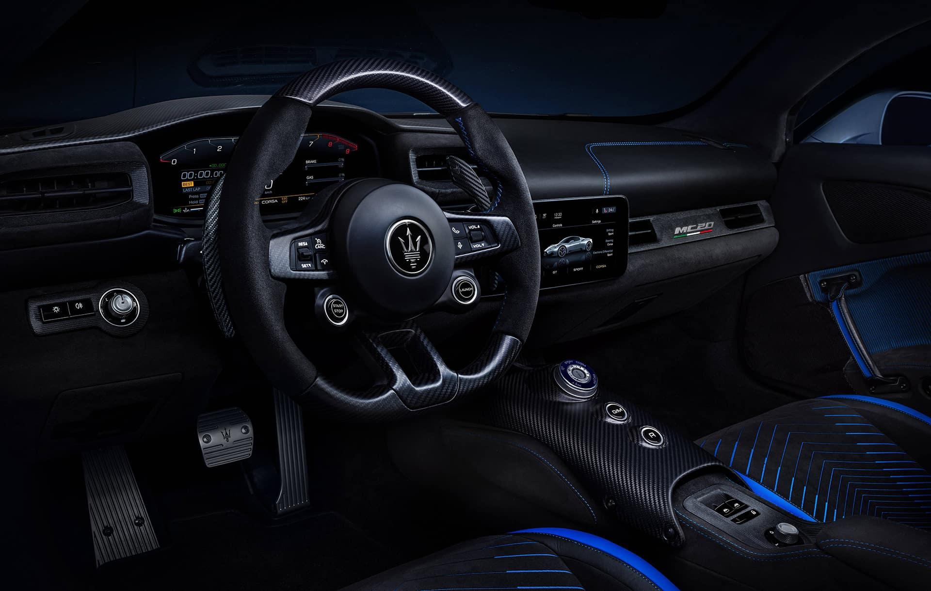 MC20 Driver side interior