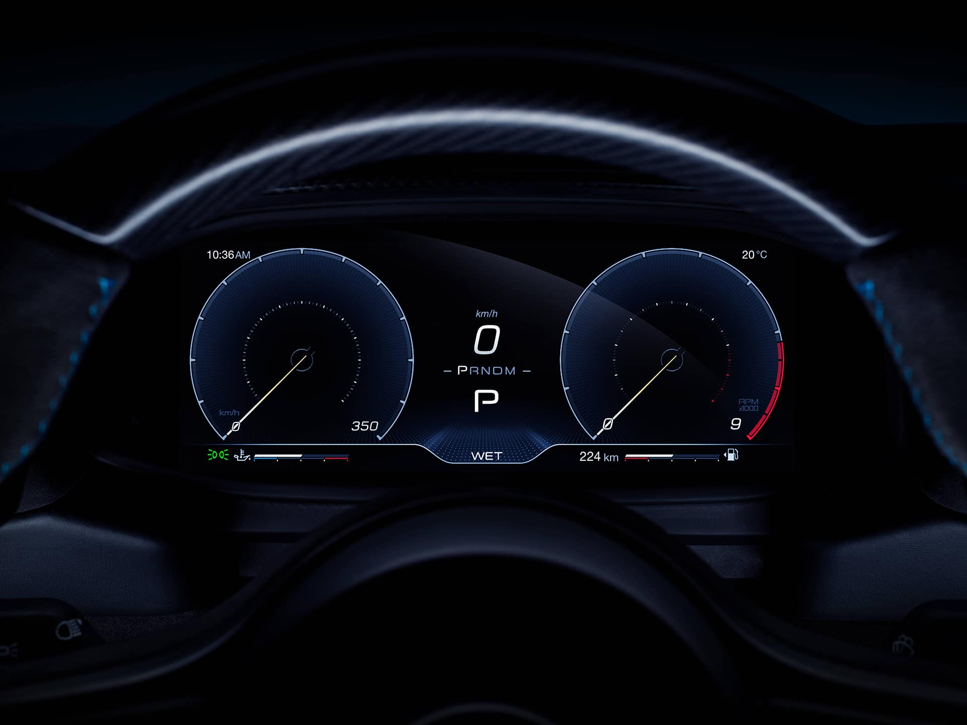 MC20 dashboard
