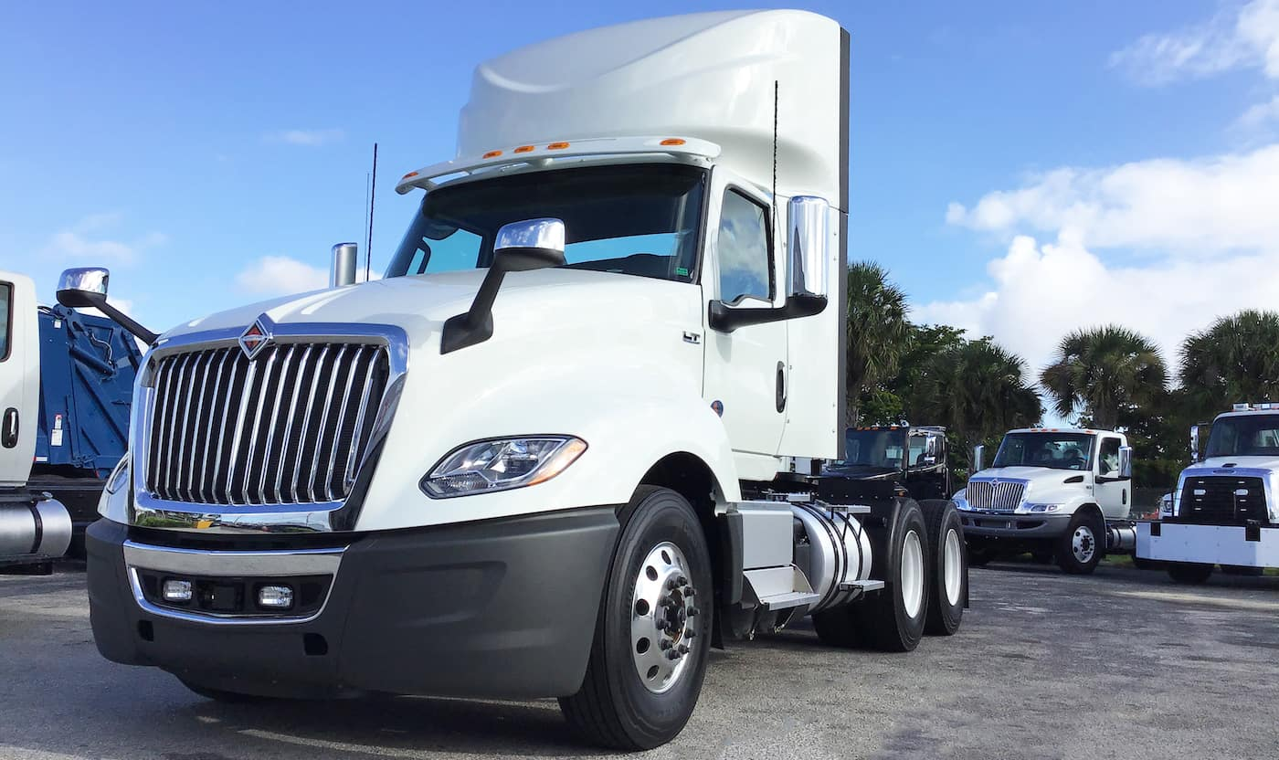2020 international lt625 6x4 white exterior parked in dealer lot