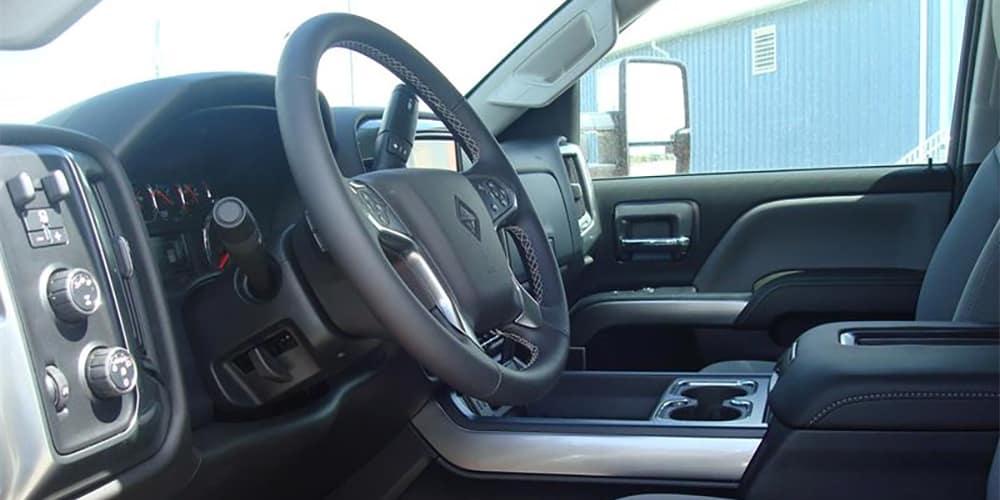 International CV515 Interior Front Seating and Dashboard