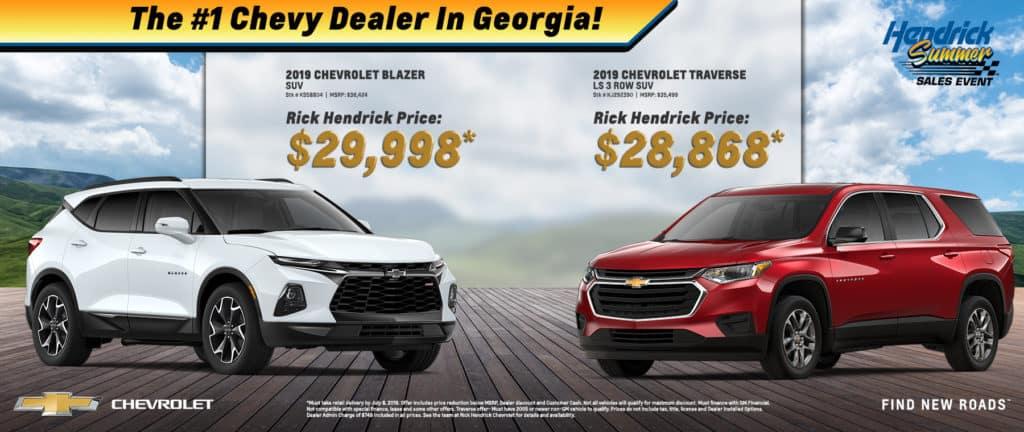2019 Chevrolet Blazer and Traverse
