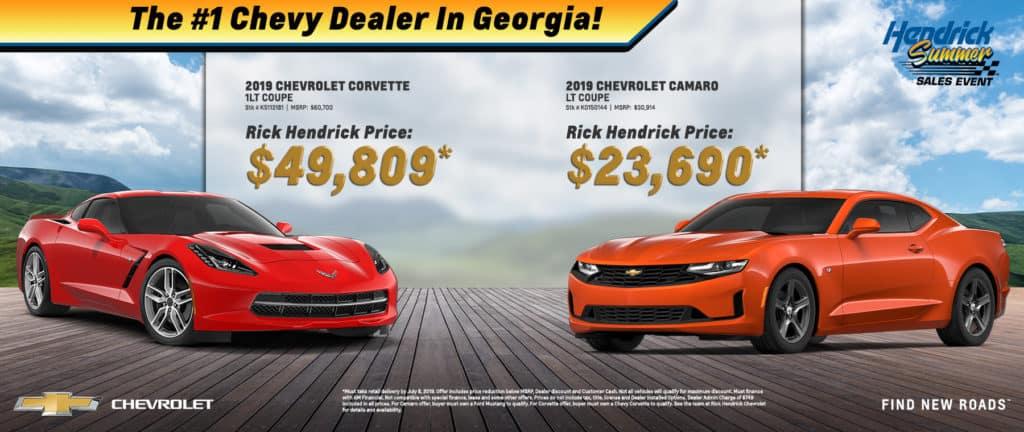 2019 Chevrolet Corvette and Camaro