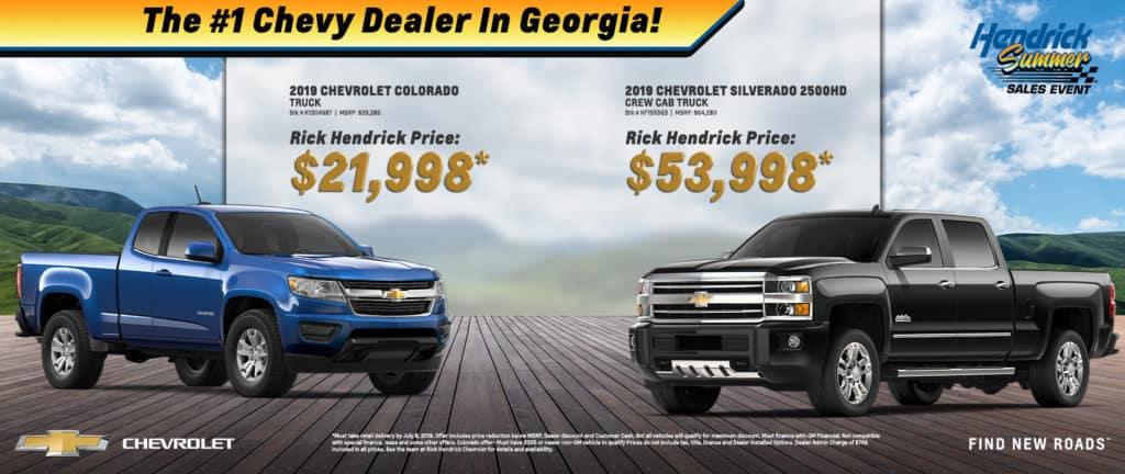 2019 Chevrolet Colorado and Silverado 2500