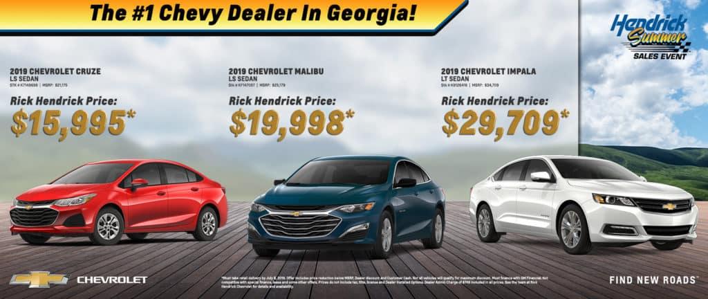 2019 Chevrolet Cruze, Malibu, and Impala