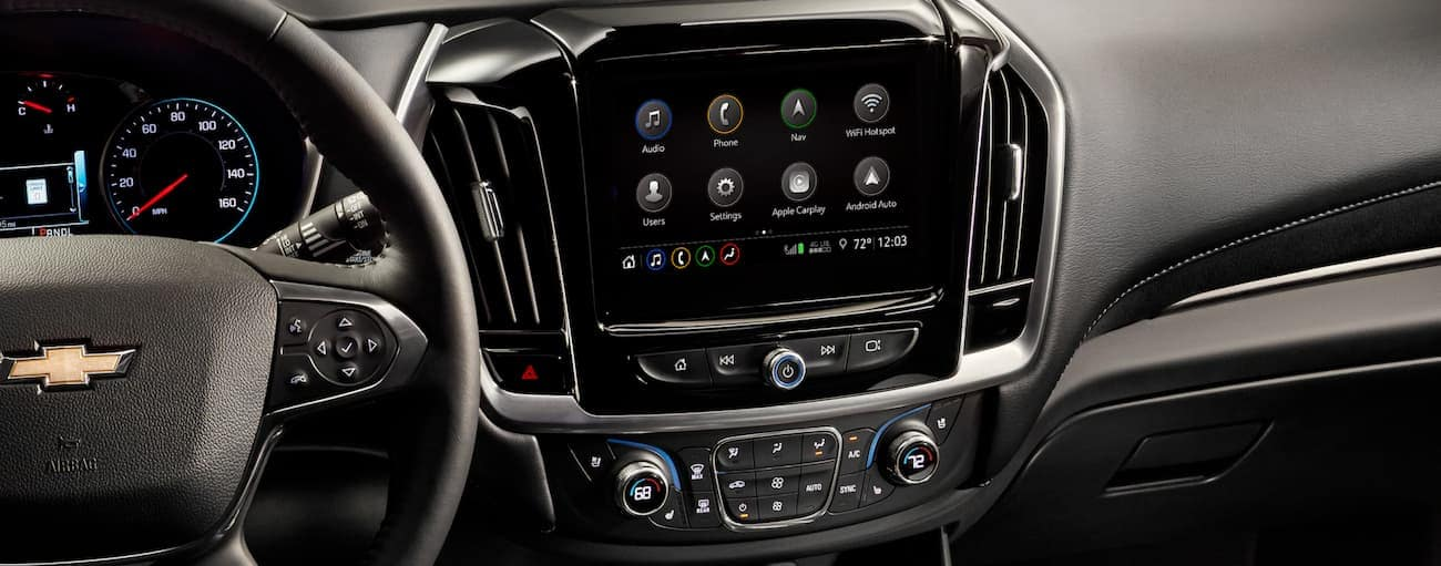 The dashboard is shown on a 2020 Chevy Traverse.