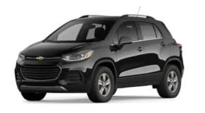 A black 2022 Chevy Trax is angled left.
