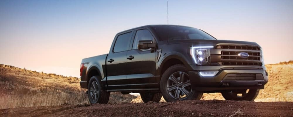 2021 Ford F-150 parked on a dirt trail