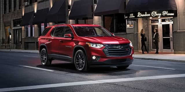 2020 Chevy Traverse At Intersection