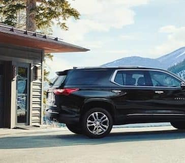 2020 Chevy Traverse In the Mountains
