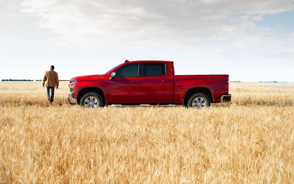 2020 Chevy Silverado 1500 In a Field