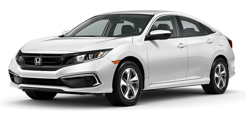 2020 Honda Civic White large