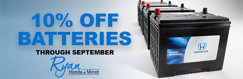 September Battery Offer
