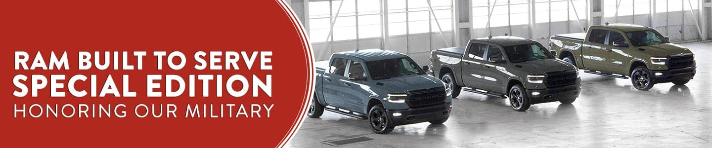 Built to Serve Special Edition Rams Available in San Antonio CDJR Honoring our Military