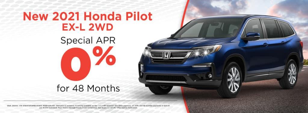 New 2021 Honda Pilot EX-L 2WD