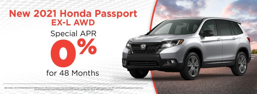 New 2021 Honda Passport EX-L AWD