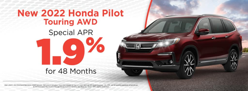 New 2022 Honda Pilot Touring AWD