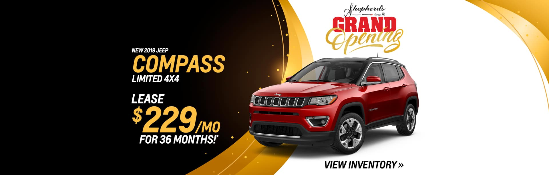 Lease a New Jeep Compass for $229 a month in Auburn, Indiana