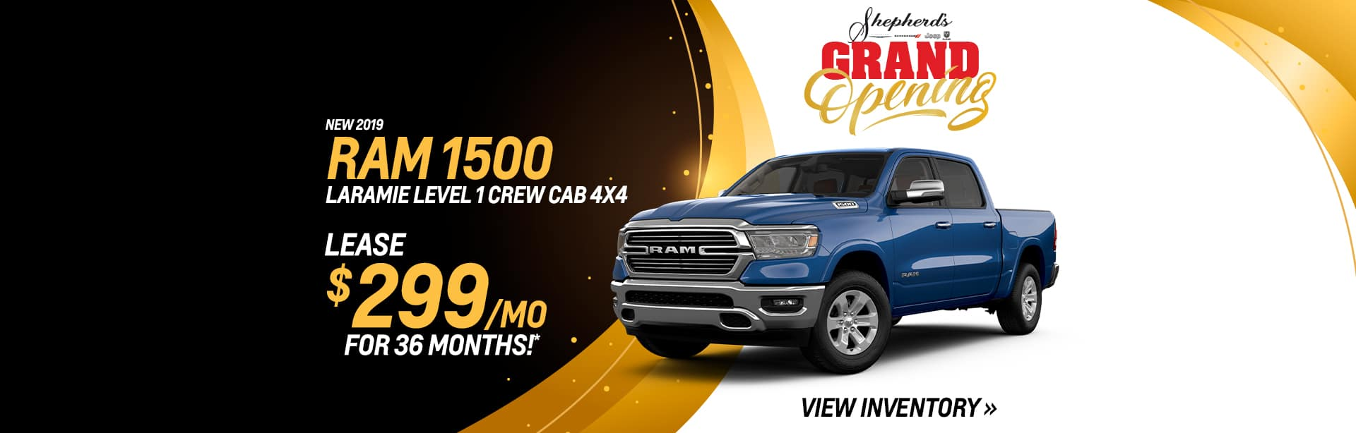 Lease a new RAM 1500 for $299 a month in Auburn, Indiana