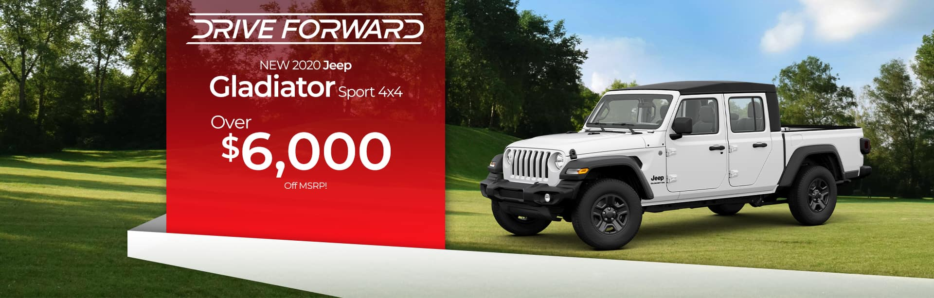 Save on a Jeep Gladiator with up to $6,000 off near Kendallville, Indiana