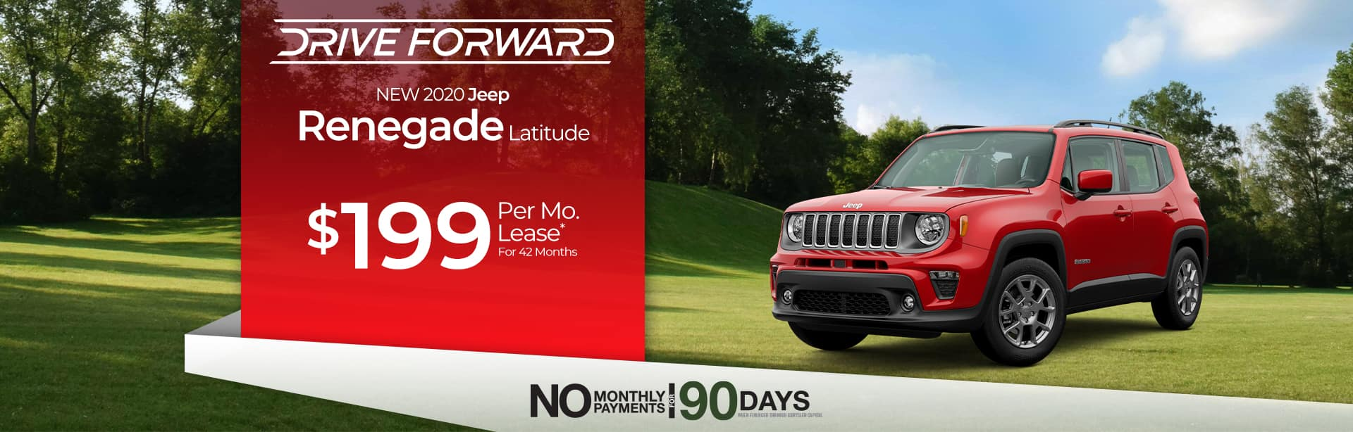 Lease a new Renegade for $199 a month in Auburn, Indiana