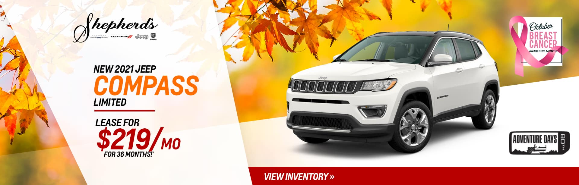 New Jeep Compass Inventory near Fort Wayne, Indiana.