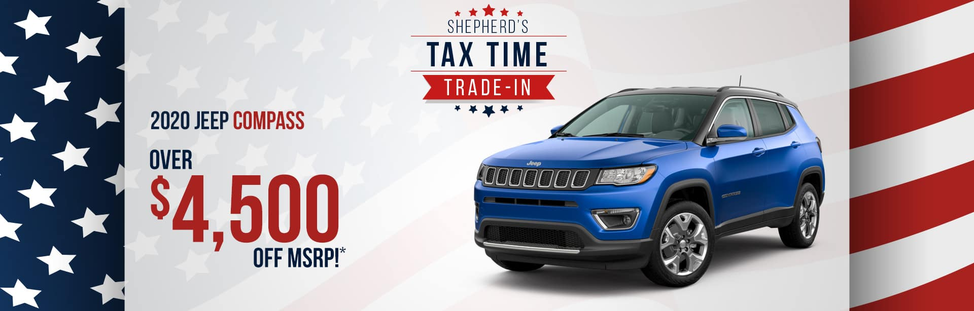 Save up to $4,500 on a New Jeep Compass near Fort Wayne, Indiana