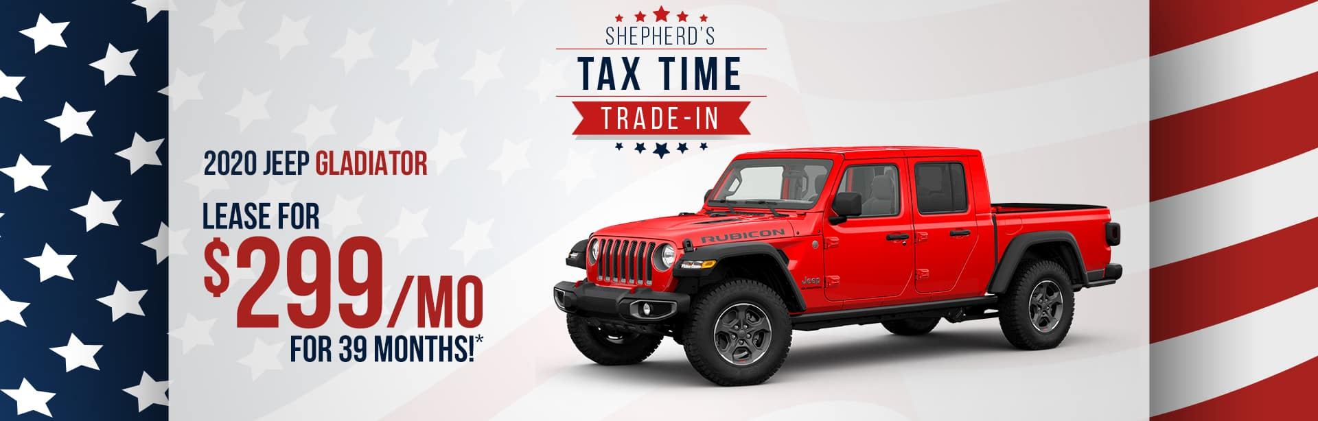 Lease a Jeep Gladiator for $299 a month near Kendallville, Indiana