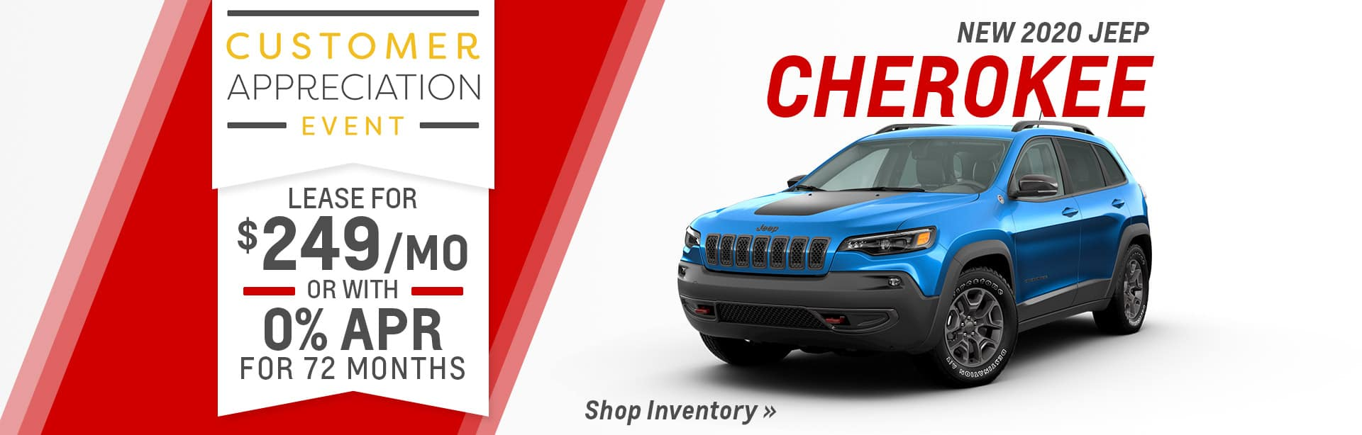 Lease a New Jeep Cherokee for $209 a month near Kendallville, Indiana