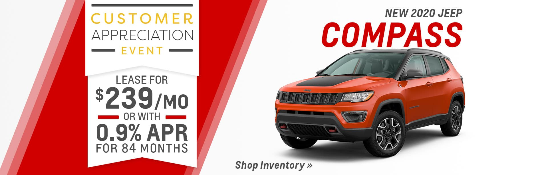 Finance a New Jeep Compass near Indianapolis, Indiana.