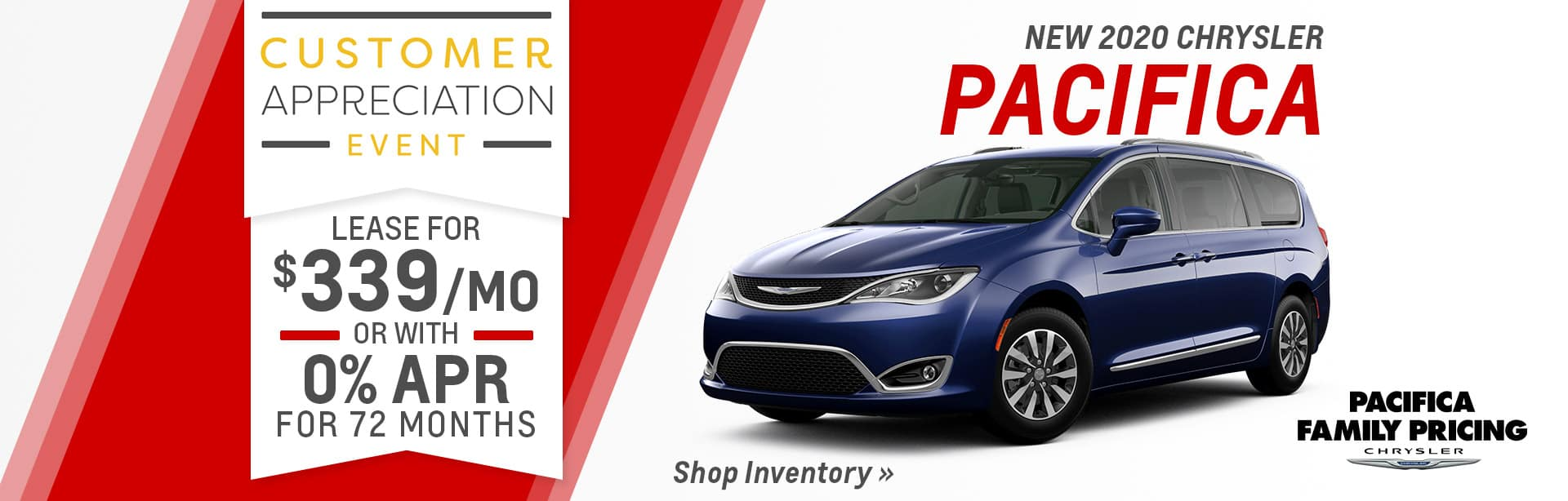 Lease a new Pacfica near Fort Wayne, Indiana