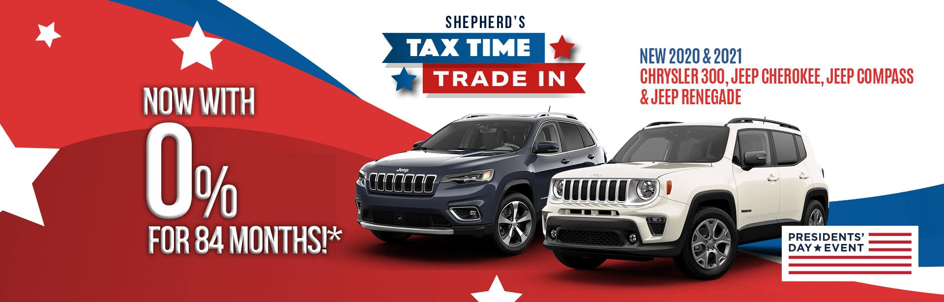 Huge finance offer near Fort Wayne Indiana for the Chrysler 300, Jeep Cherokee, Jeep Compass, or Jeep Renegade