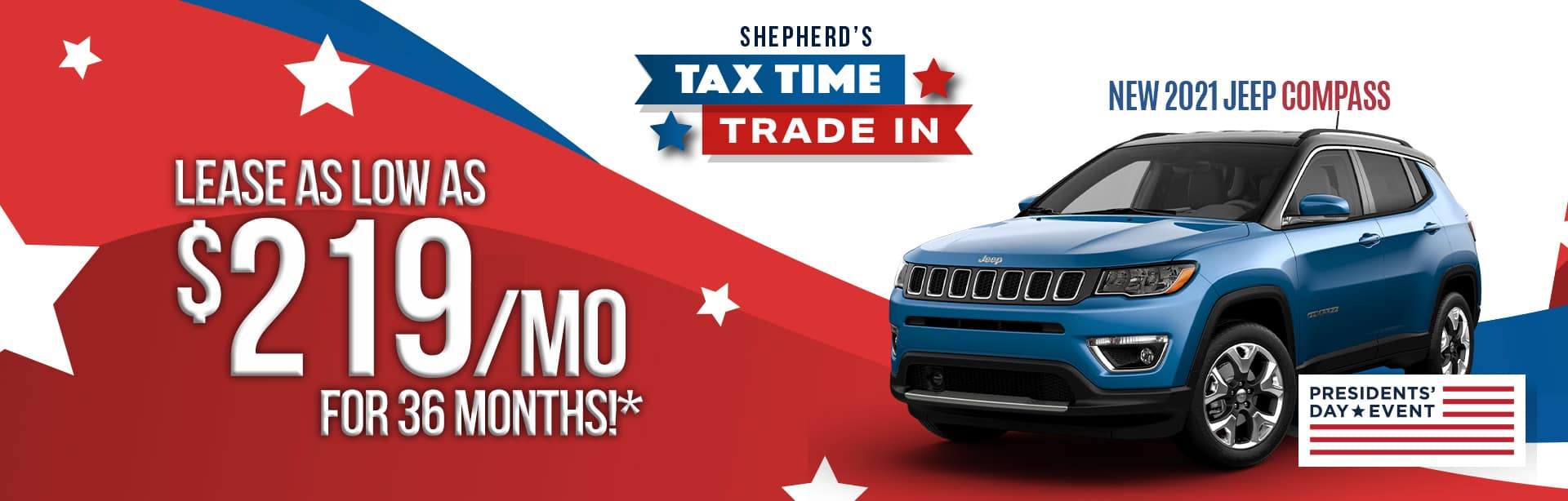Best lease deal on a new 2021 Jeep Compass near Auburn Indiana