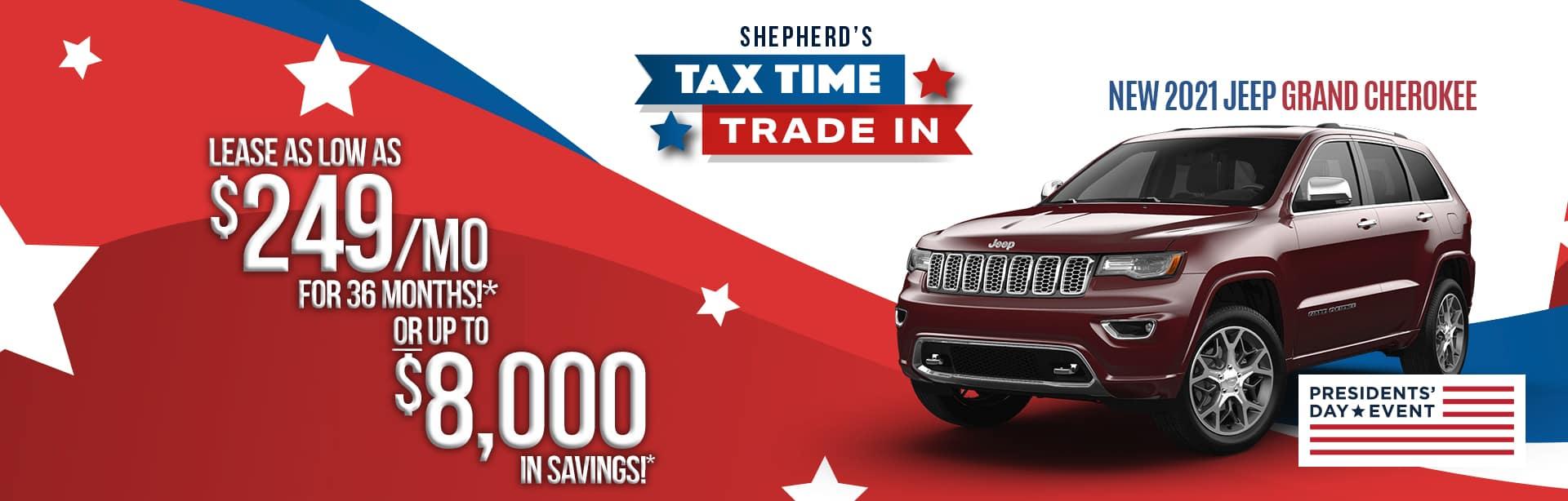 Best lease deal on a new 2021 Jeep Grand Cherokee near Auburn Indiana
