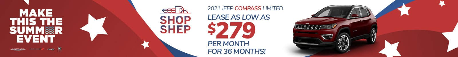 Best lease offer on a 2021 Compass near Fort Wayne IN