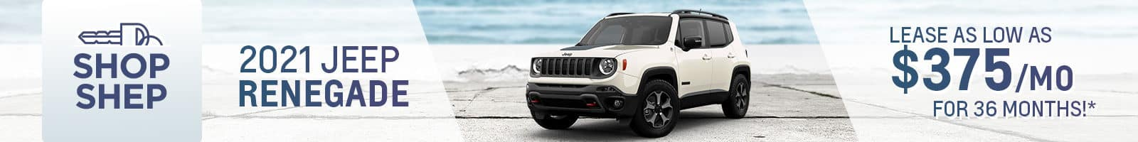 Best lease deal on the all-new 2021 Jeep Renegade near Fort Wayne IN