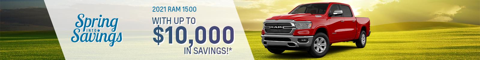 Best rebate offer on a 2021 RAM 1500 near Fort Wayne IN