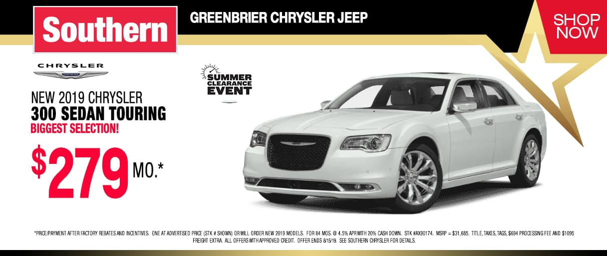 Southern Greenbrier Chrysler Jeep | Chrysler, Jeep Dealer in