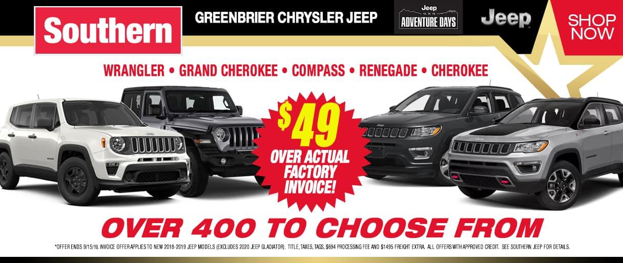 Southern Greenbrier Chrysler Jeep | Chrysler, Jeep Dealer in