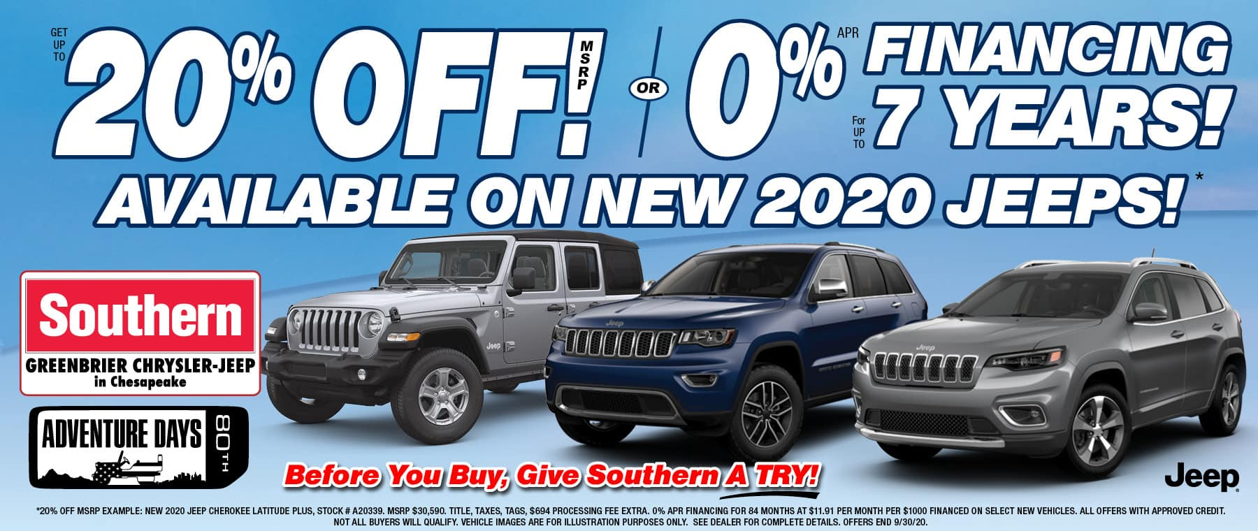 Southern Jeep Chesapeake – Sept 2020