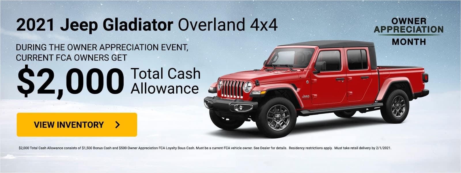 Owner Appreciation Jeep Gladiator