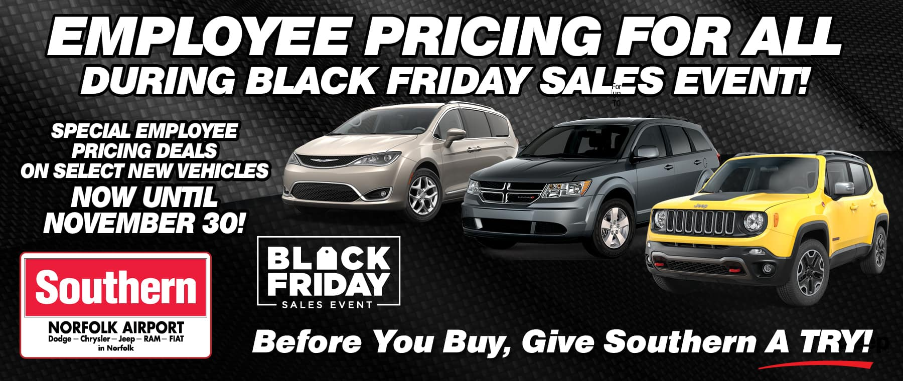 Employee Pricing Southern Dodge November