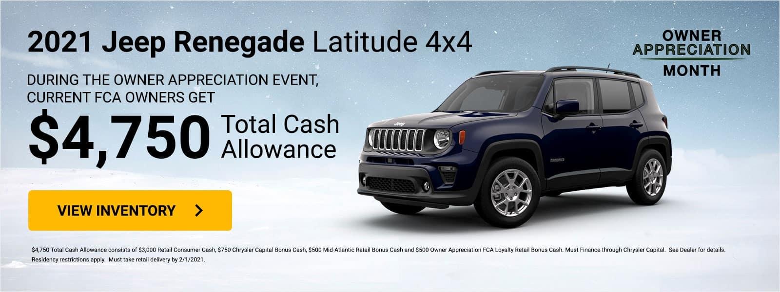 Owner Appreciation Jeep Renegade