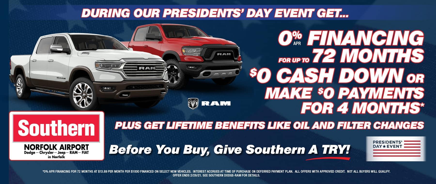February Ram Truck – Southern Dodge