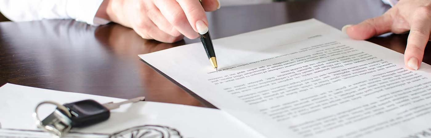 Signing car insurance documents