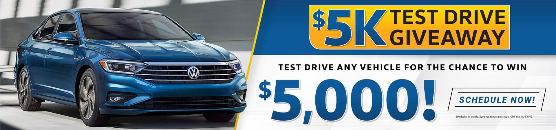 5000 test drive getaway