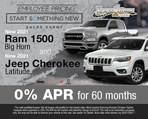 2021 Ram 1500 and Jeep Cherokee