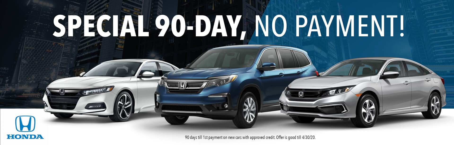 90 Days No Payment Honda