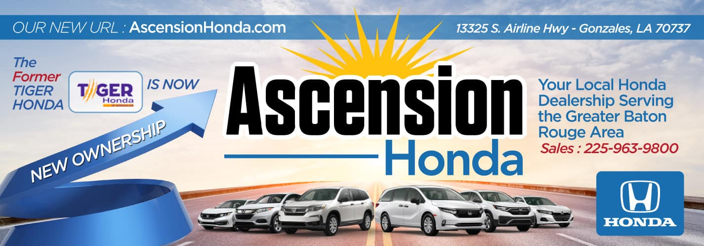 Tiger Honda is now Ascension Honda - Under New Ownership