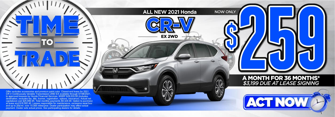 All New 2021 Honda CR-V EX 2WD   Now only $259 a month for 36 months   $3,199 Due at leas signing   ACT NOW