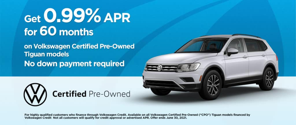VW Tiguan CPO 0.99% Financing For 60 Months